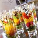 Ahi Tuna, Avocado, crab and Mango Shooters